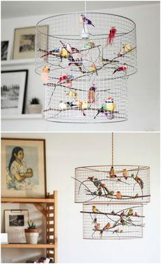 Super Bird Cage Decoration Home Birdcage Light 65 Ideas Kids Room Lighting, Room Lights, Birdcage Light, Diy Bird Cage, Bird Cages, Luminaire Original, Diy Luminaire, Diy Pendant Light, Light Fittings