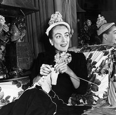 Joan Crawford knitting - Google Search