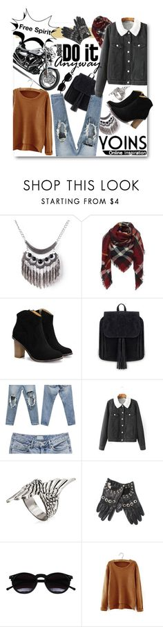 """Yoins!"" by ina-kis ❤ liked on Polyvore featuring Versace, Chicnova Fashion, women's clothing, women's fashion, women, female, woman, misses, juniors and yoins"