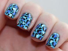 Spektor's Nails: NOTD: Blue Leopard