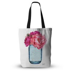 "Oriana Cordero ""Perfect Mason"" Blue Pink Everything Tote Bag"