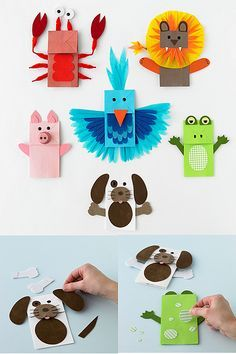 AWESOME paper bag puppets! @Chris
