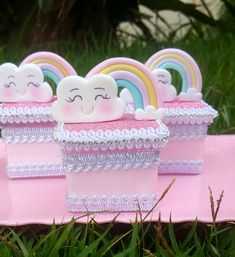 Rainbow Baby, Clouds, Children, Box, Ideas, Bow Braid, Industrial Kids Decor, Care Bear Party, Cloud Party