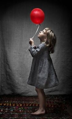Pretty Little Fairy Flower Girl Dress Red And Grey, Black And White, Red Balloon, Perfect World, Shades Of Red, Fine Art Photography, Balloons Photography, Color Splash, Gray Color
