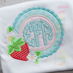 Hang to Dry Applique - HTD Strawberry Scalloped Frame, $3.99 (http://www.hangtodryapplique.com/htd-strawberry-scalloped-frame/)