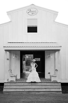 stylish barn weddings outside - Round Top, Texas at The Prairie B Photo by Kristi Wright.