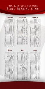 Free Bible Reading Chart Bookmark