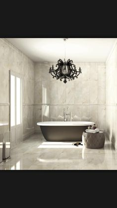 """I love marble! So a marble """"look"""" tile in my big ensuite would be great"""