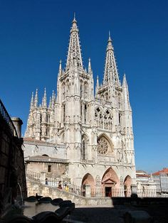 Burgos Cathedral- Spain Burgos to visit Father Clement Cathedral Church, Gothic Cathedral, Gothic Architecture, Religious Architecture, Kirchen, Spain Travel, World Heritage Sites, Barcelona Cathedral, Places To See