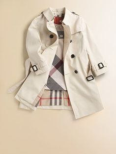 "Burberry has went ""chavy"" but this is lovely especially for a wee girl :) love a classic trench"