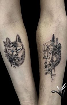 Boy Tattoos, Family Tattoos, Sister Tattoos, Mini Tattoos, Cute Tattoos, Body Art Tattoos, Small Tattoos, Tatoos, Wolf Tattoos For Women