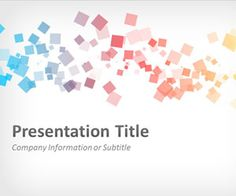abstract squares powerpoint slide template