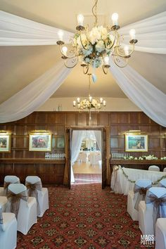 Wedding ceremony at the Horseshoe Inn  Photo by Karen Austin Decorations