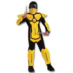 Yellow Armored Ninja Costume now available at http://www.karatemart.com