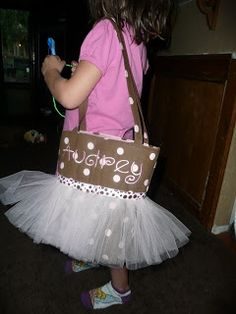 Tutu Dance Bag Tutorial   **WARNING~TONS OF PICTURES   Supplies:   2 coordinating fabrics   fusible fleece   roll of tulle   ribbon    Cut ...