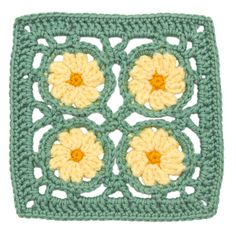 Stitchfinder : Crochet Floral Block: Primrose Square : Frequently-Asked Questions (FAQ) about Knitting and Crochet : Lion Brand Yarn