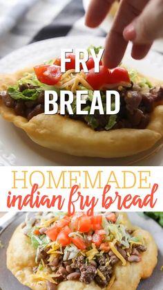 Meat Recipes, Mexican Food Recipes, Appetizer Recipes, Real Food Recipes, Cooking Recipes, Easy Fry Bread Recipe, Indian Fried Bread Recipe, Fry Bread Tacos, Cinco De Mayo