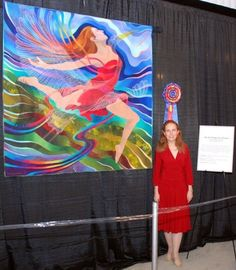 On the Wings of a Dream: Art Quilt by Caryl Bryer Fallert 2008-read about her beautiful story on how this quilt came to be.