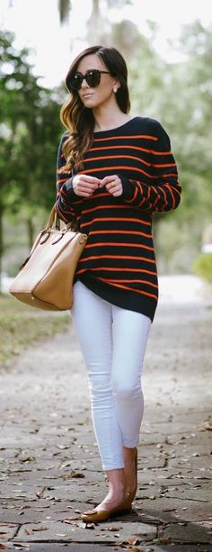 #fal #fashion / black + orange