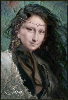 Mona Lisa Images, Mona Lisa Parody, Religious Images, Famous Women, Headgear, Jon Snow, Art Projects, Walls, Fine Art