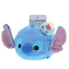 Disney STORE Mobile Phone stand TSUM TSUM Stitch & Scrump Plush toy JAPAN