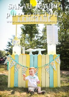 DiY lemonade stand made from wooden fencing!