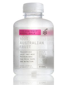Preshafruit, featured on The Dieline way back in 2009, has undergone a slight makeover, new slimmer bottle and new label