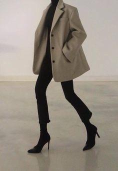 Look Fashion, Korean Fashion, Spring Fashion, Winter Fashion, Fashion Forms, Feminine Fashion, Grunge Fashion, Fashion Design, Mode Outfits