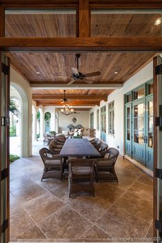 Custom Cypress Patio Ceiling