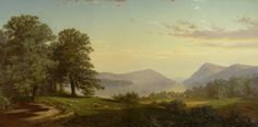"""Lake George,"" Alfred Thompson Bricher, 1866, oil on canvas, 30 x 60"", Albany Institute of History and Art."