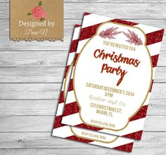 Christmas Party InvitationChristmas party by DesignedbyDaniN