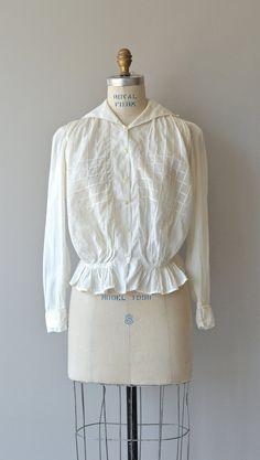 Edwardian Windowpane blouse vintage 1910s
