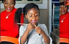 Nollywood actress Mercy Johnson is on set of a new movie in Enugu State and shes not alone.  The mother of three is on set with her first child Purity.  Though the role she plays wasnt stated producer and movie director Tcharls Ozuruigbo shared the behind the scene photos on social media yesterday.