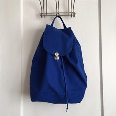BAGGU backpack BAGGU drawstring backpack in royal blue. Makes a great day  pack for outdoor b67bf6f31b19f
