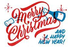 Merry Christmas, Xmas Art Inspiration #type #typography #new #year