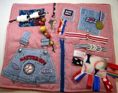Baseball Lovers Fidget Sensory Activity Quilt by TotallySewn