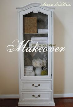 Looking for a little cabinet like this. Dear Lillie: A Little French Cabinet Makeover Refurbished Furniture, Repurposed Furniture, Furniture Makeover, Painted Furniture, Furniture Projects, Furniture Making, Diy Furniture, Furniture Refinishing, French Furniture