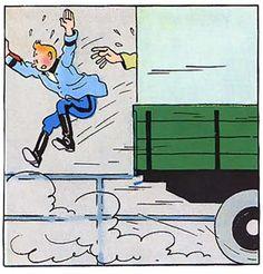 La vie de Tintin | Tintin préfère encore sauter en marche plutôt...
