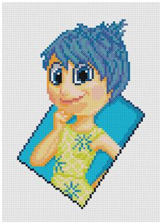 PDF Cross Stitch pattern 0034.Joy Inside Out by PIXcross