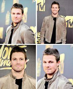 Stephen Amell attending the MTV Movie Awards.