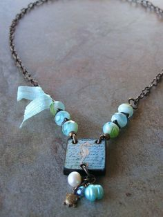 Seahorse Necklace by swallowtailjewellery on Etsy