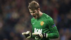 David de Gea, Manchester United. | Real Madrid 1-1 Man. U. UEFA Champions League. [13.02.13]