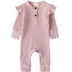 Baby Girl Baby Boy Langarm Bodysuit Strampler One Piece Pyjamas Outfits Solid Organic Cotton Jumpsuit Kleidung