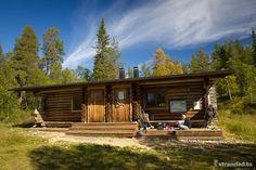 Tuiskukuru, Urho Kekkonen National Park, Lapland, Finland Lapland Finland, Northern Lights, National Parks, Cabin, House Styles, Day, Nature, Cabins, Aurora