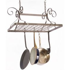Pot Racks - Décor Collection DR2 Series Rectangular Pot Rack in Hammered Steel Finish by Enclume | Kitchensource.com