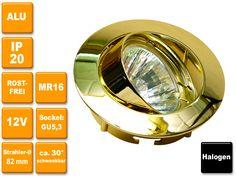 12V Halogen-Einbauspot Celia in 4 verschiedenen Farben lieferbar, wahlweise mit oder ohne Leuchtmittel. Rostfrei!