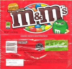 Peanut Butter M&M's maybe for grid and print them out in color