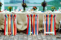 chair decorations for groom and bride