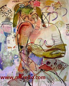 """POESÍA ERES TÚ"" (Gustavo Adolfo Becquer)  Jose Manuel Merello.- ""La mujer del poeta."" (100 x 81 cm)   ART MODERNE. http://www.merello.com"