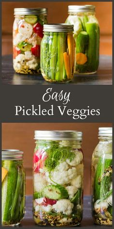 Pickled Vegetables - Refrigerator - Trending Refrigerator for sales. - Pickled vegetables made with spices and brine can be kept in the refrigerator for several weeks are easy to create and make a great healthy snack. Pickled Vegetables Recipe, Canning Vegetables, How To Pickle Vegetables, How To Pickle Cucumbers, Most Healthy Vegetables, Pickling Cucumbers, Yummy Snacks, Healthy Snacks, Healthy Eating